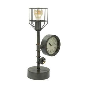Stolní lampa s hodinami Mauro Ferretti Industry Clock, 26 x 45 cm