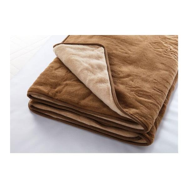 Vlněná deka Camel, 220x200 cm