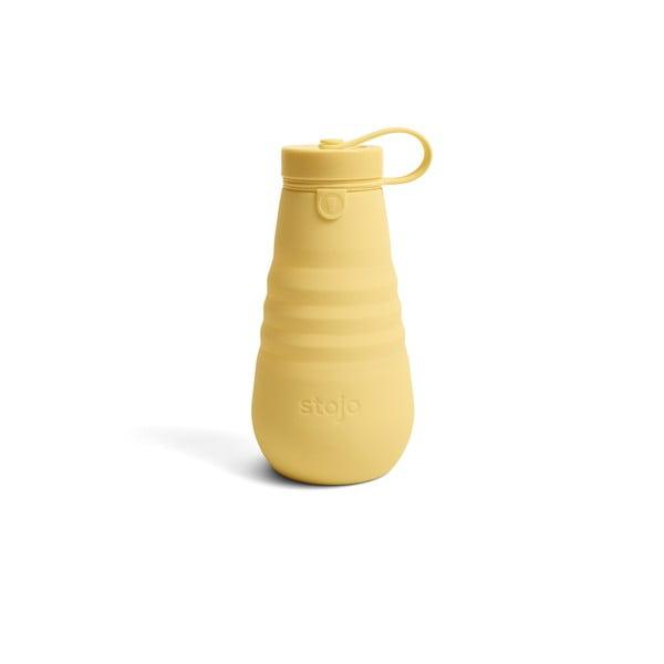 Žlutá skládací láhev Stojo Bottle Mimosa, 590 ml