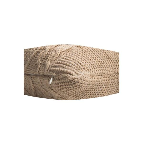 Pletený povlak na polštář Kosem Beige, 43x43 cm
