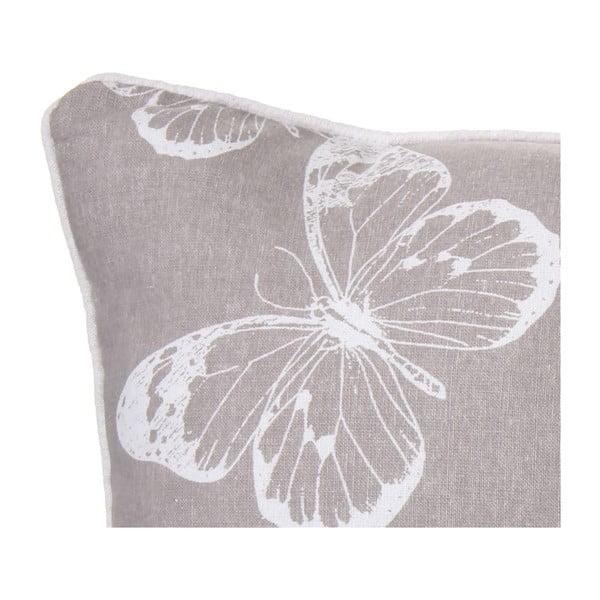 Polštář Butterfly Grey, 45x45 cm