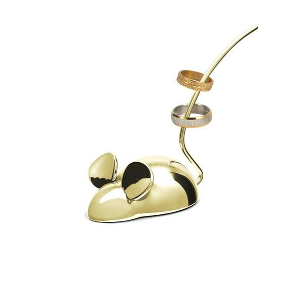 Stojánek na prsteny ve zlaté barvě Le Studio Mouse