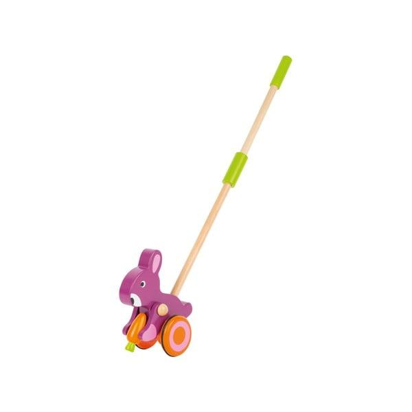 Drevená hračka na tyči Legler Animal Hare with Carrot
