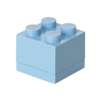 Cutie depozitare LEGO® Mini Box, albastru deschis de la LEGO®