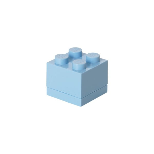 Cutie depozitare LEGO® Mini Box, albastru deschis