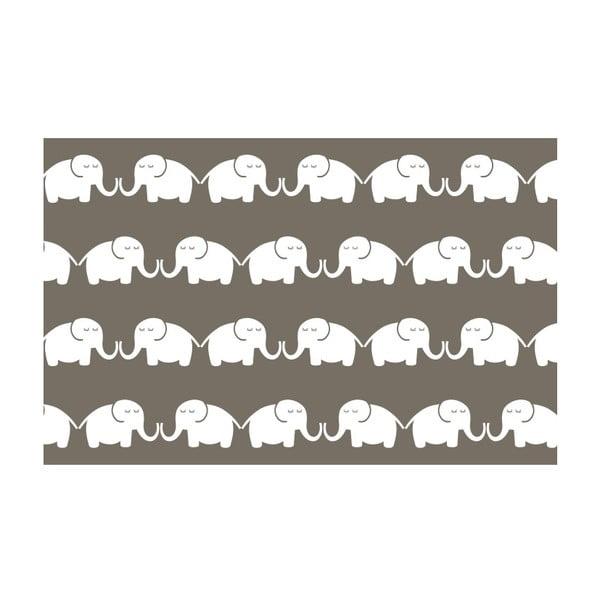 Vliesová tapeta Elephants For Her 270x46.5 cm, šedohnědá