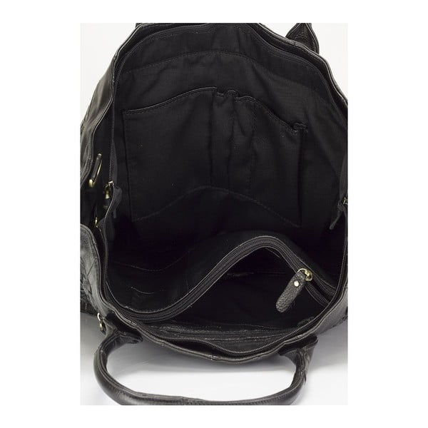 Kožená kabelka Lisa Minardi 9988 Black