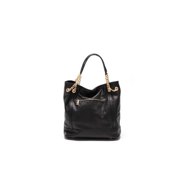 Kožená kabelka Tote 2089 Nero