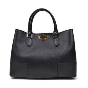 Černá kožená kabelka Anna Luchini Misseria