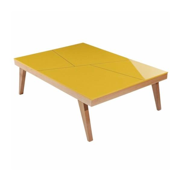Konferenční stolek Panama Mustard