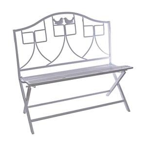 Bílá kovová skládací zahradní lavice Ewax