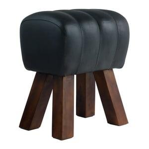 Černá kožená lavice Fuhrhome Lima