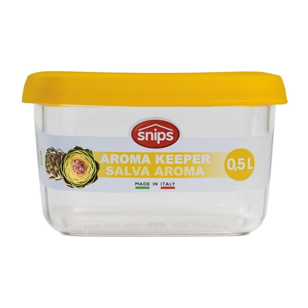 Žlutá dóza na potraviny Snips Snowflake, 0,5l