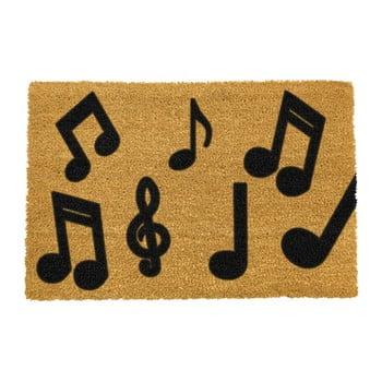 Covoraș intrare din fibre de cocos Artsy Doormats Music Notes, 40 x 60 cm imagine