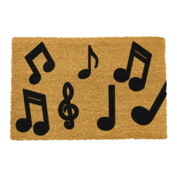 Covoraș intrare din fibre de cocos Artsy Doormats Music Notes, 40 x 60 cm