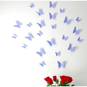 Set 12 autocolante 3D Ambiance Butterflies mov