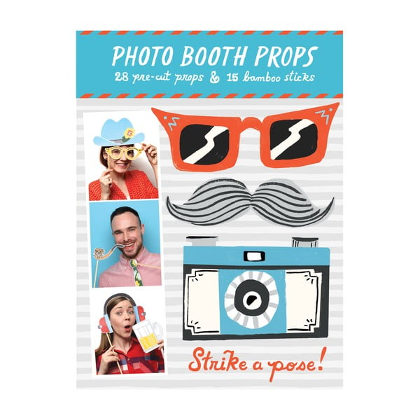 Rekvizity (nejen) do fotobudky Galison Mudpuppy Photo Booth Props Strike a pose!