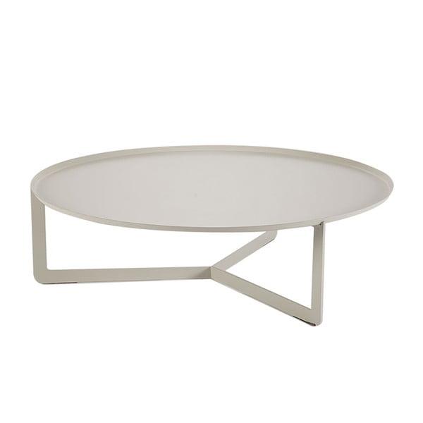 Krémový konferenční stolek MEME Design Round, Ø80cm
