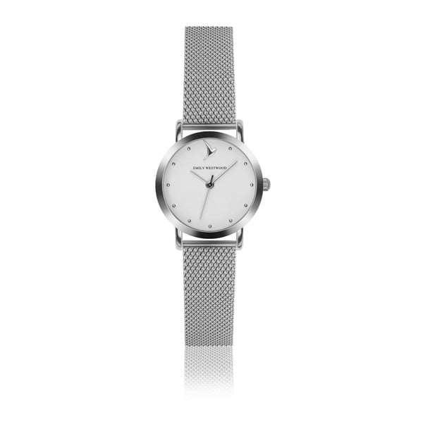 Dámske hodinky so sivým remienkom z antikoro ocele Emily Westwood Bussiness