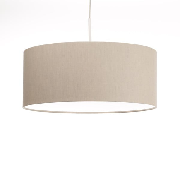 Krémové stropní světlo Artist, variabilní délka, Ø 60 cm