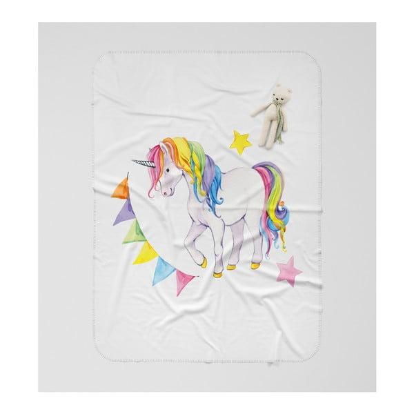 Dětská deka OYO Kids Colorful Unicorn, 120 x 160 cm