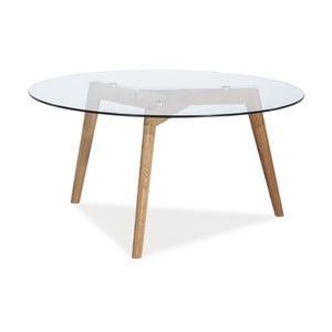Konferenční stolek s deskou z tvrzeného skla Signal Oslo, ⌀80cm