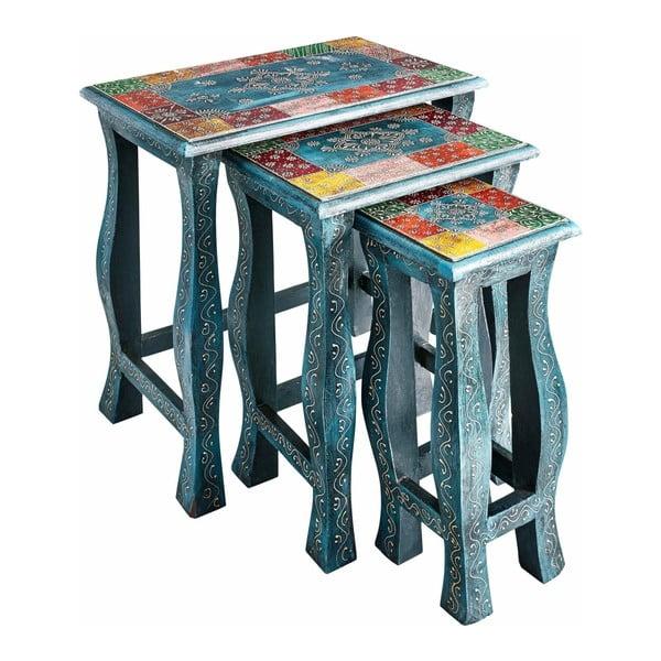 Sada 3 odkládacích stolků  z mangového dřeva Støraa Vito