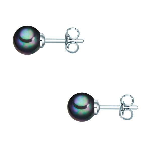 Náušnice s antracitově černou perlou Perldesse Muschel, ⌀0,6 cm