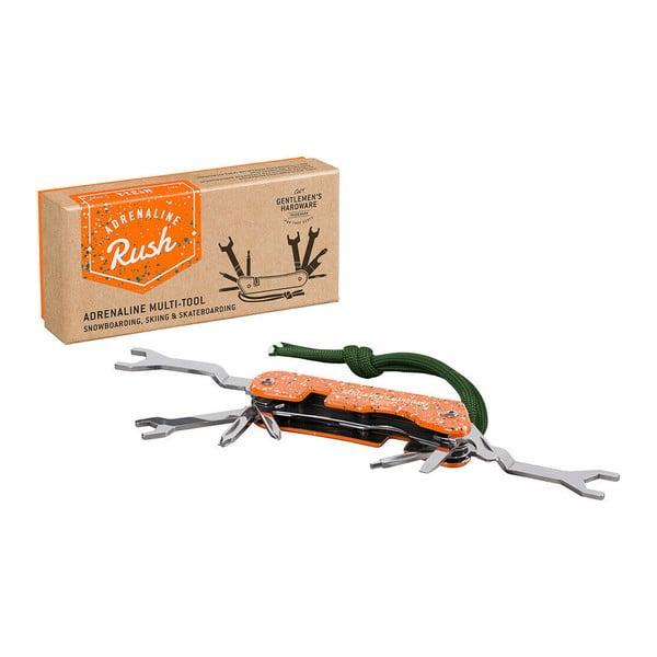 Oranžový multifunkční kapesní nástroj pro adrenalinové sporty Gentlemen's Hardware