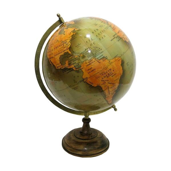 Glob decorativ din lemn și plastic Antic Line Globe,ø30cm