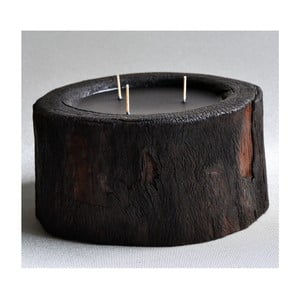 Palmová svíčka Legno Dark s vůní vodního květu, 100 hodin hoření