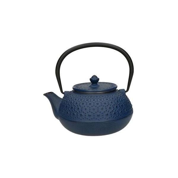 Niebieski dzbanek do herbaty z sitkiem Brandani Cast, 650 ml