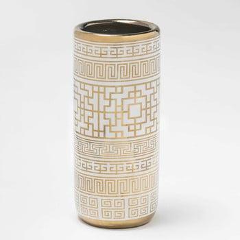 Suport din ceramică pentru umbrele Thai Natura, 21 x 47 cm, alb – auriu de la Thai Natura