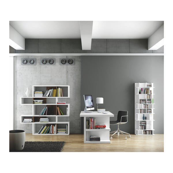 Bílý pracovní stůl TemaHome Multi, délka 160 cm