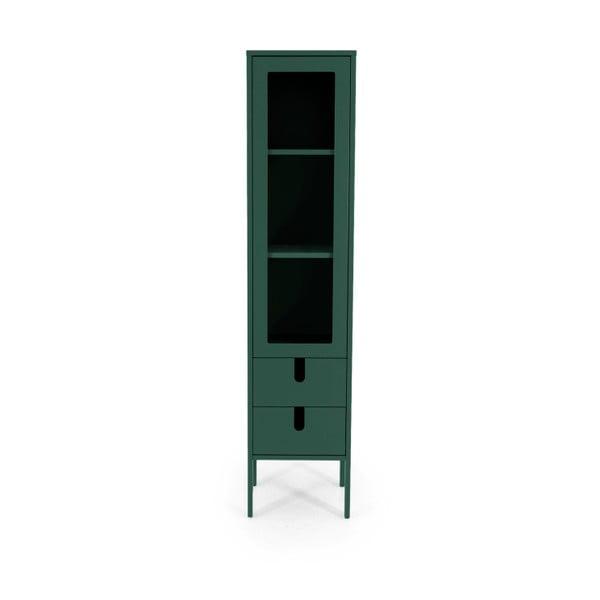 Vitrină Tenzo Uno, lățime 40 cm, verde închis