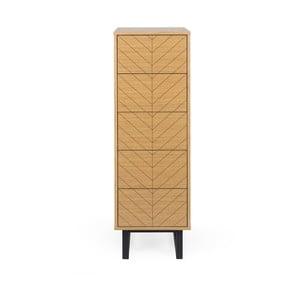 Komoda z březového dřeva Woodman Camden Narrow Herringbone Print