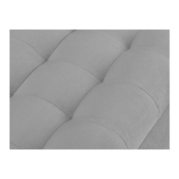 Světe šedý otoman s úložným prostorem Windsor & Co Sofas Nova, 180 x 47 cm