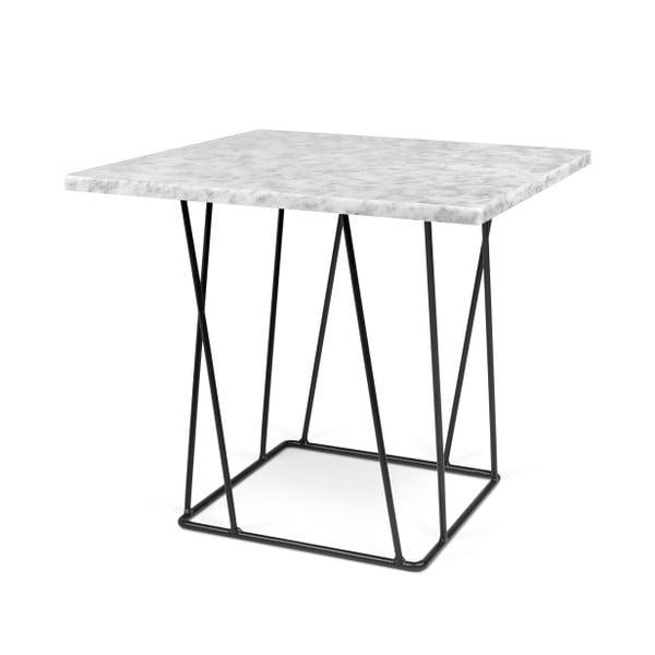 Bílý mramorový konferenční stolek s černými nohami TemaHome Helix, 50 cm