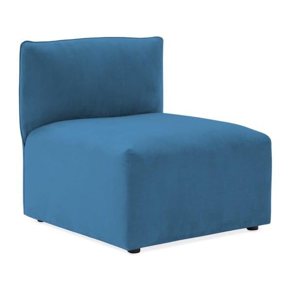 Modrý prostřední modul pohovky Vivonita Velvet Cube