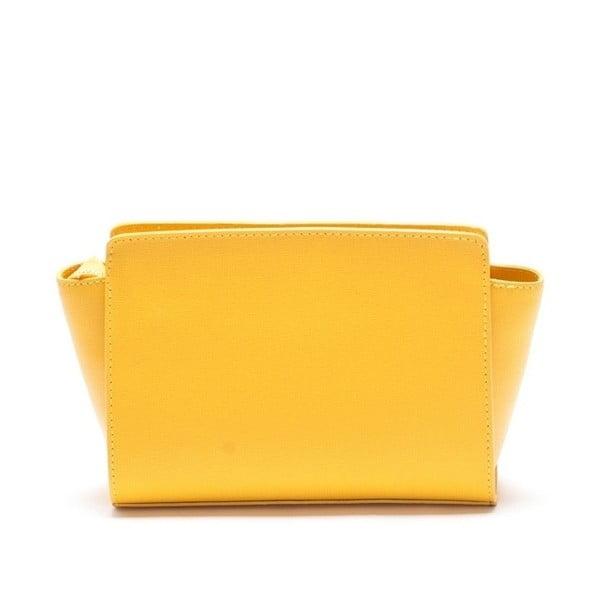 Kožená kabelka Mangotti 446, žlutá