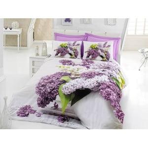 Lenjerie de pat cu cearșaf din bumbac Vilma, 200x220cm