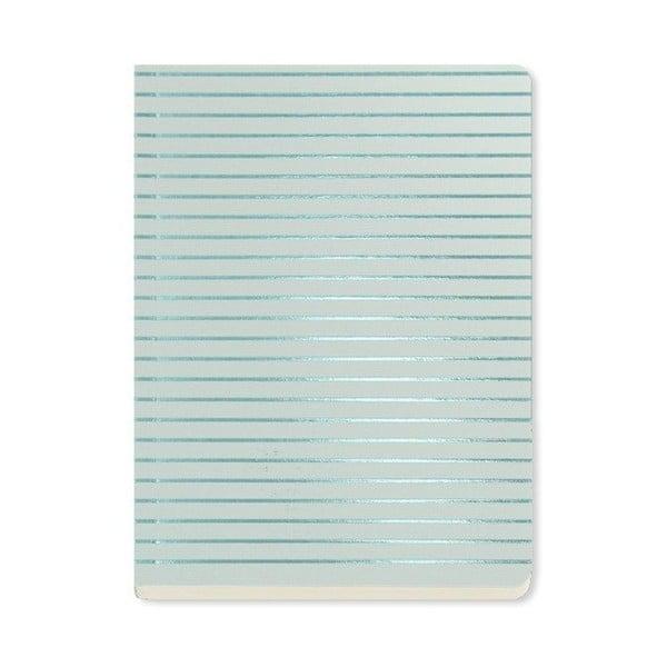 Agendă A6 Go Stationery Fine Stripe Aqua