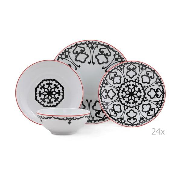 24-dielna sada porcelánového riadu Kutahya Luhko