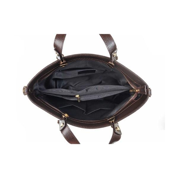 Kožená kabelka Miss Dark Brown