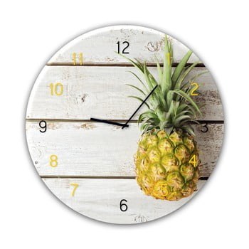 Ceas de perete Styler Glassclock Pineapple, ⌀ 30 cm imagine