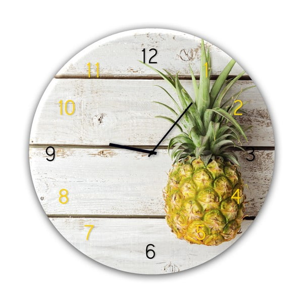 Glassclock Pineapple falióra, ⌀ 30 cm - Styler
