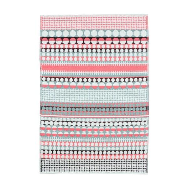 Růžovo-tyrkysový oboustranný koberec vhodný i do exteriéru Green Decore Prime, 180 x 120 cm