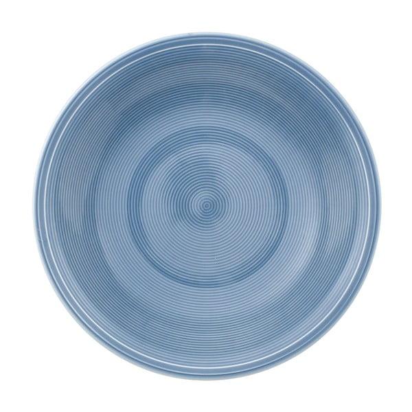 Modrý porcelánový hluboký talíř Like by Villeroy & Boch Group, 23,5 cm