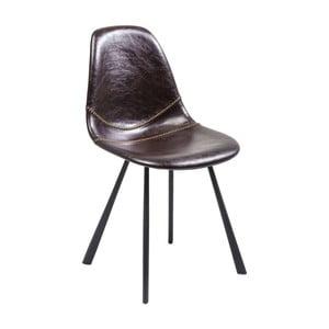 Sada 2 hnědých jídelních židlí Kare Design Lounge