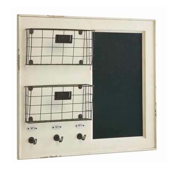 Nástěnné košíky s tabulí White, 55x62 cm
